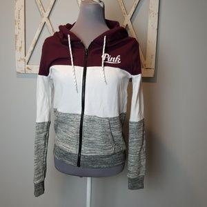 {VS PINK} full zip hoodie Small
